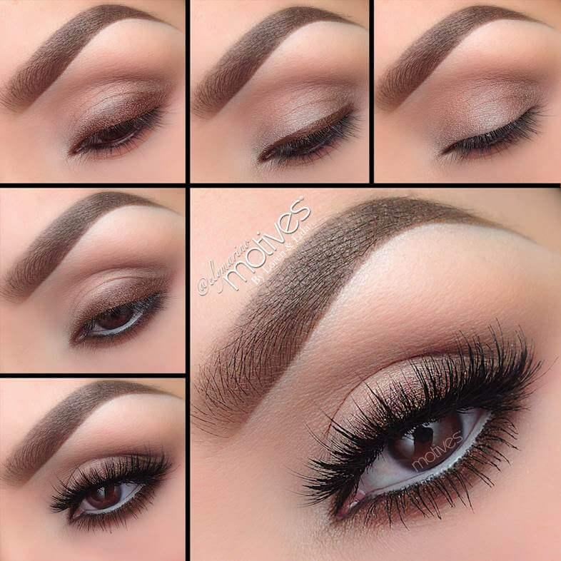 eyeshadow makeup for brown eyes tutorial