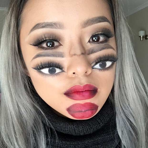 Collection : Best cool easy makeup looks for halloween