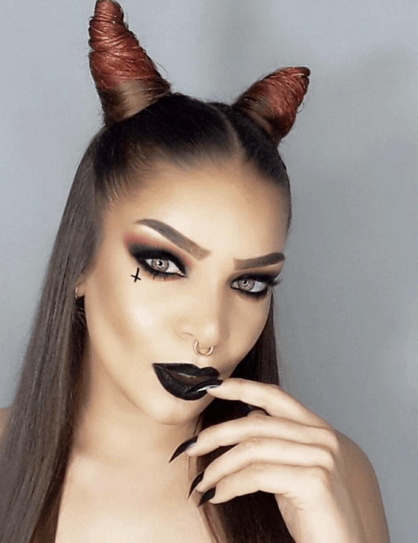 simple devil makeup ideas