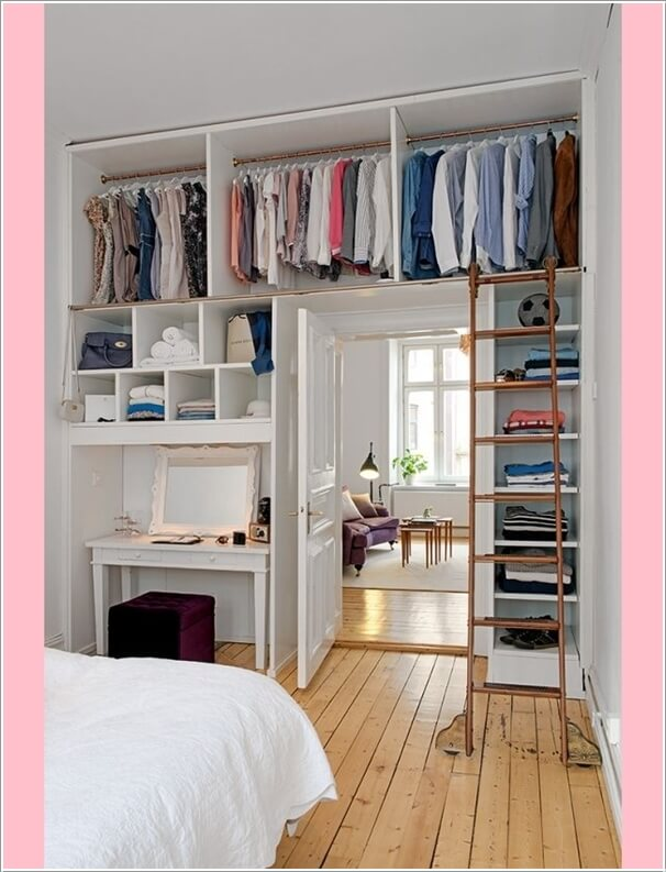 makeup storage for small bedroom