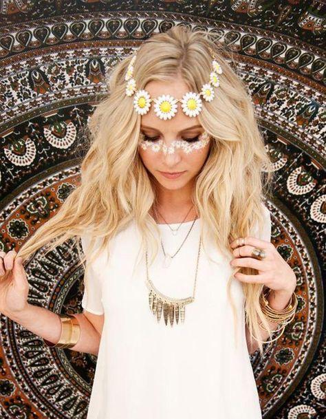 Makeup trends : Best makeup ideas for hippie costume