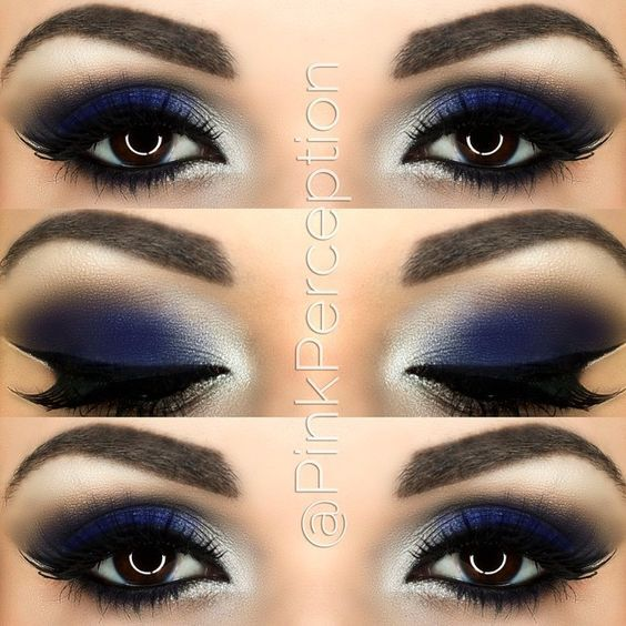 homecoming makeup ideas for blue dress