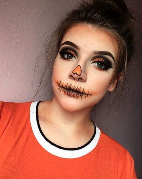 Makeup inspiration : Best sexy pumpkin halloween makeup ideas