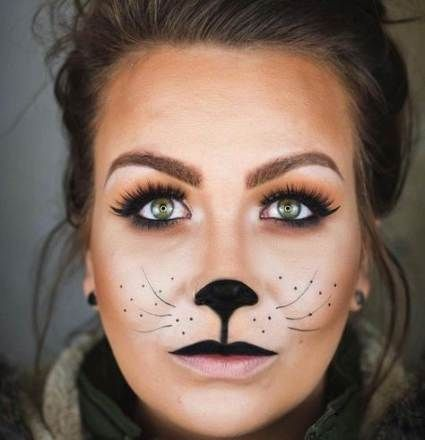 black cat face makeup ideas