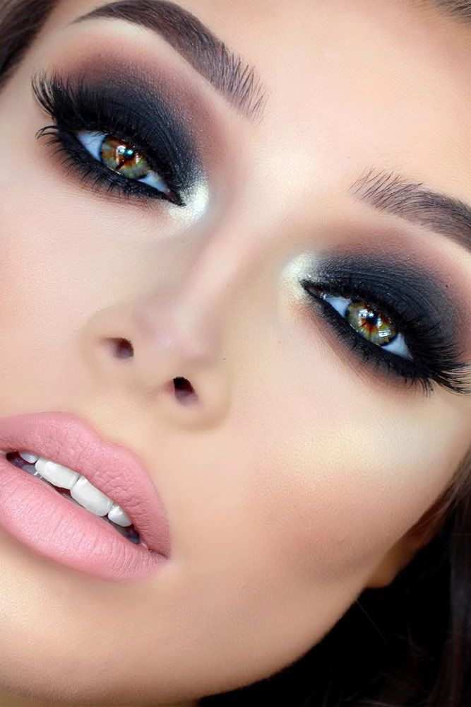 sexy makeup ideas gor black hair color n blue eyes