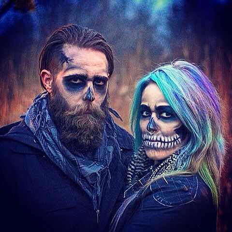 Inspo : 22 Best halloween makeup ideas for guys with beards