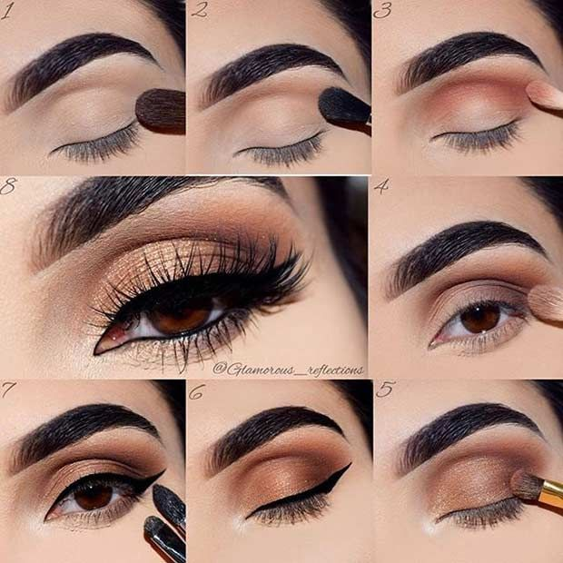 Easy Eye Makeup For Brown Eyes Step