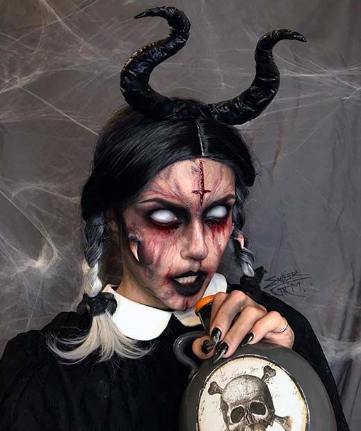 scary demon halloween makeup ideas