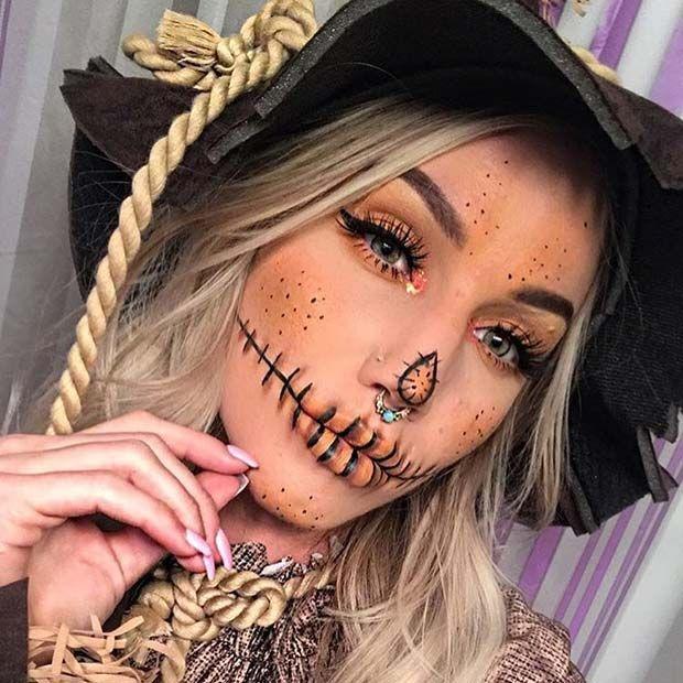 Makeup inspiration : Best scarecrow makeup ideas cute