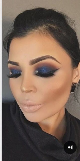 prom makeup ideas for blue dress