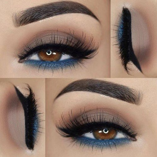 makeup ideas for brown hair blue eyes