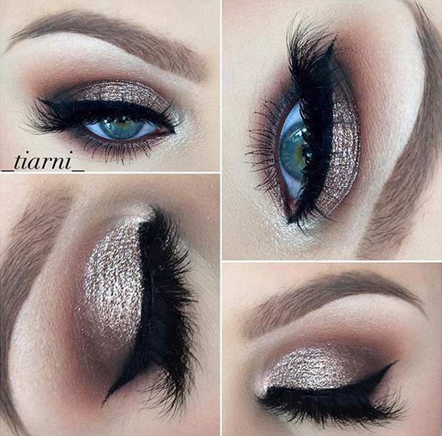 wedding makeup ideas for blue eyes