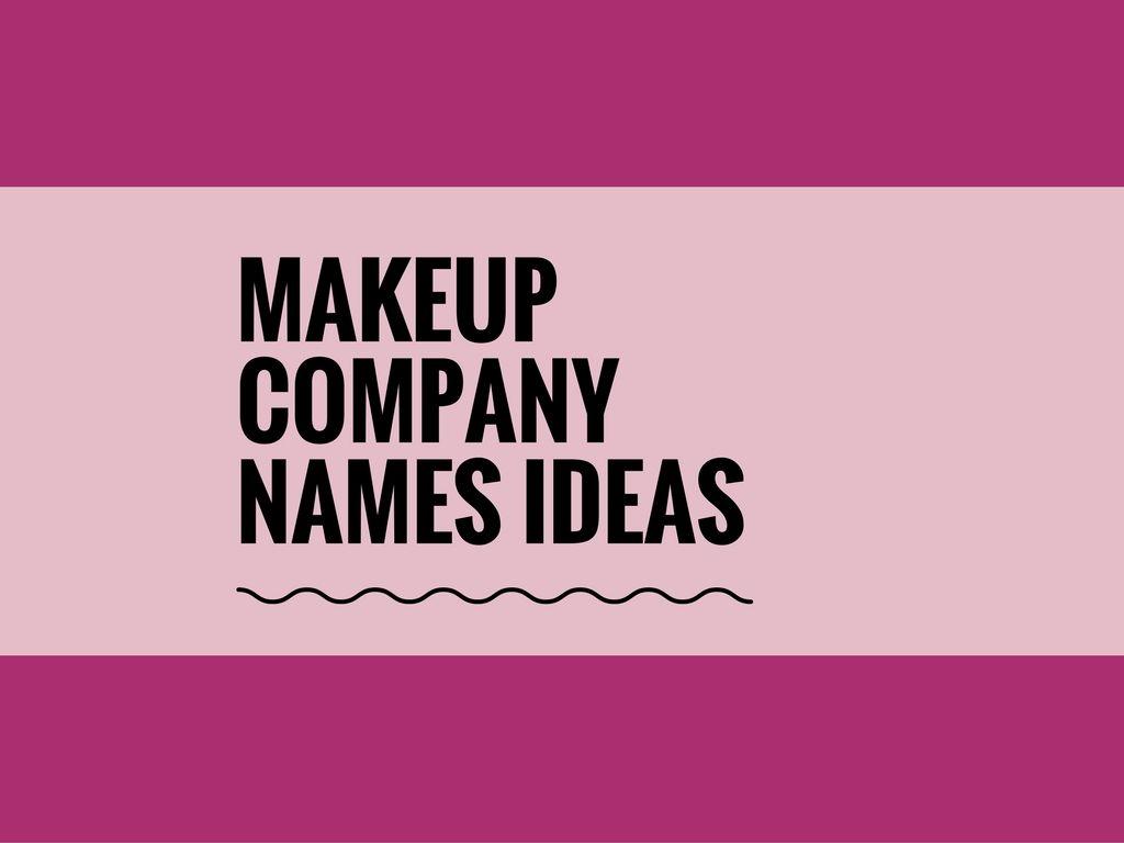 ideas for makeup artist business names