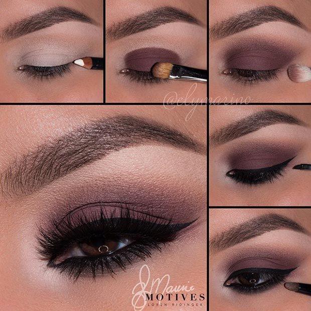 easy eye makeup for brown eyes step by step
