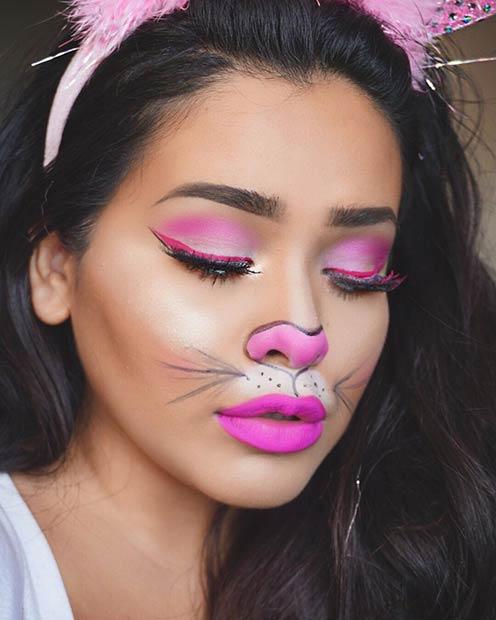 scary bunny halloween makeup ideas