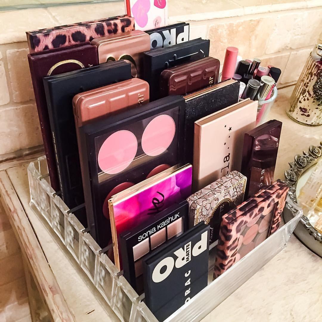 storage ideas for makeup palettes