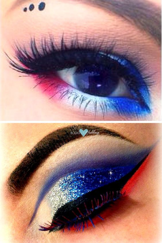 simple 4th of july makeup ideas
