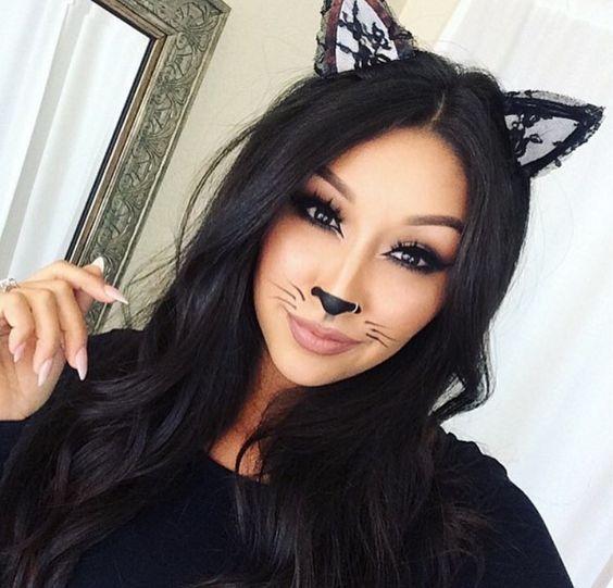 Trends : Best cute cat makeup ideas for halloween