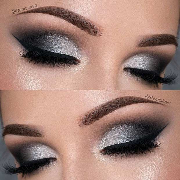 silver eywshadow makeup ideas