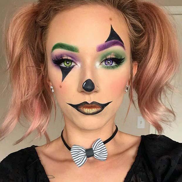 clown makeup ideas scary