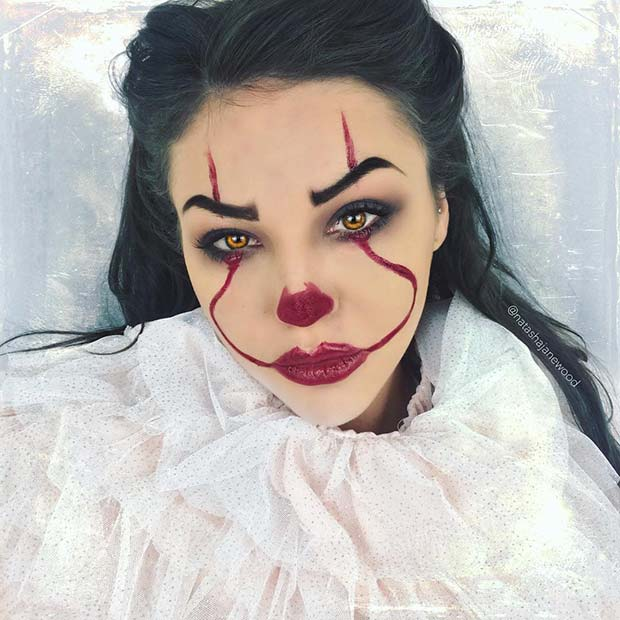 scary clown makeup easy