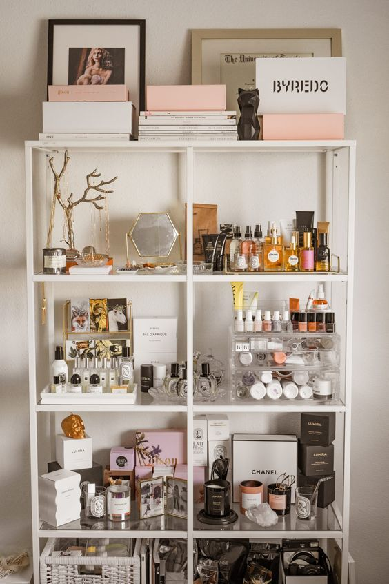 shelving ideas for makeup