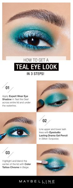 prom makeup ideas for a teal dress