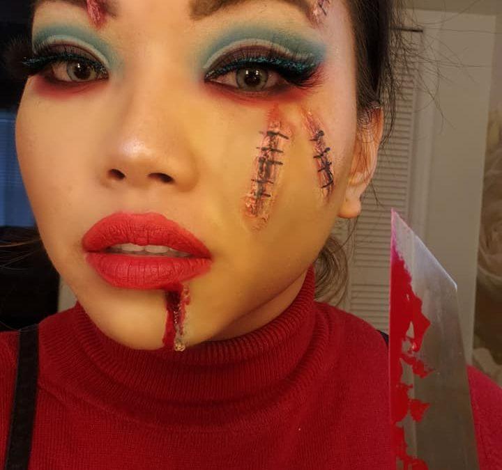 Chucky inspired one of my Halloween looks!