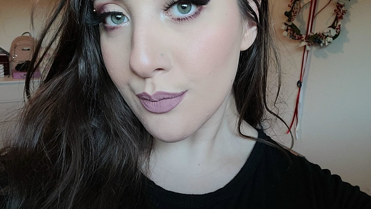 Cold toned plum and rose