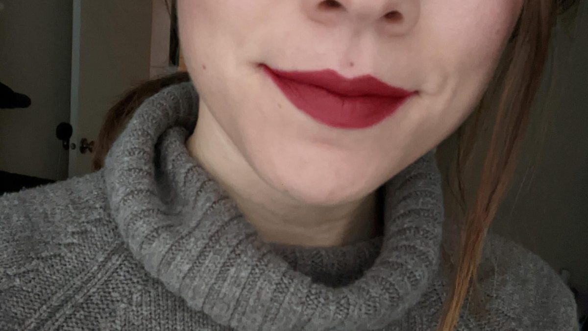 I celebrated today with a bold lip
