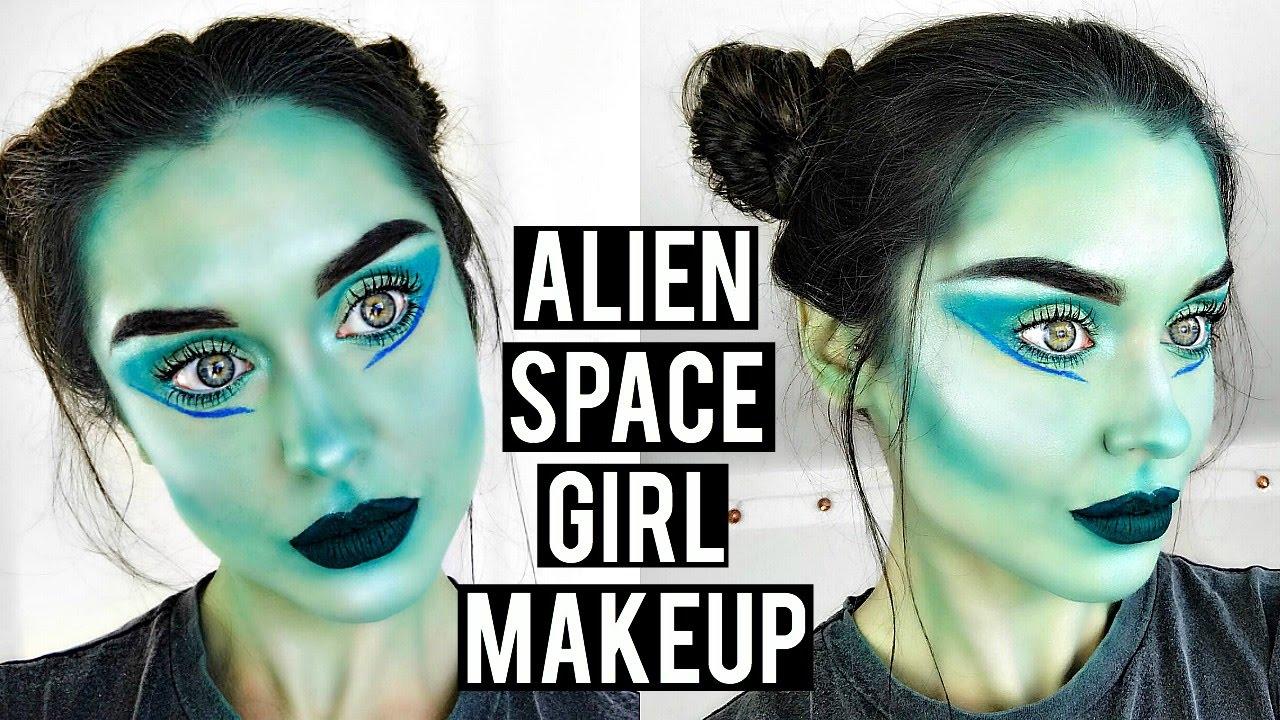 easy alien makeup tutorial
