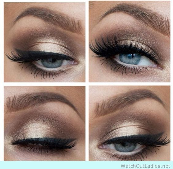 natural eyeshadow looks for blue eyes
