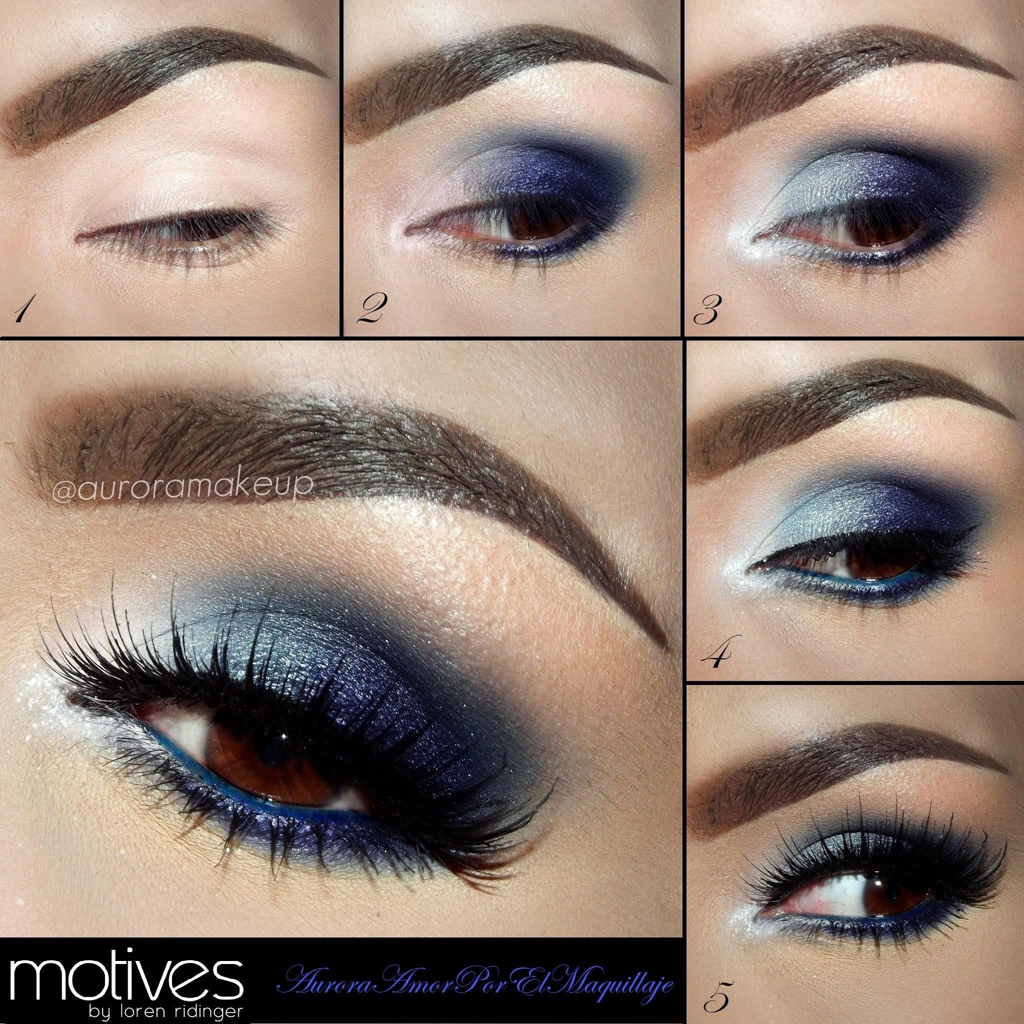 eyeshadow for brown hair blue eyes