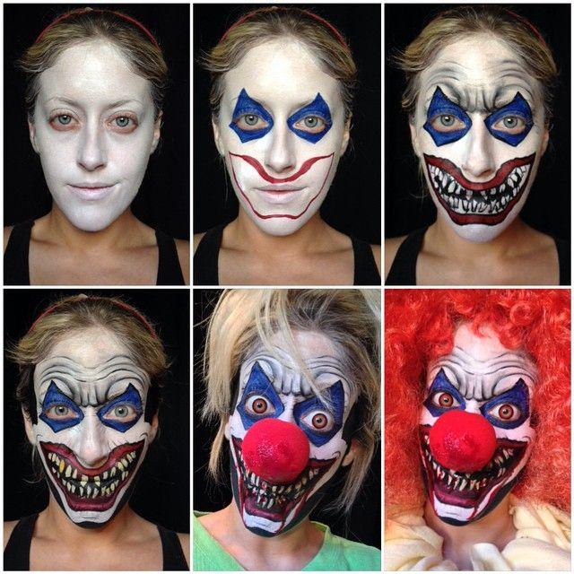 Trends : 19 Best clown makeup ideas scary