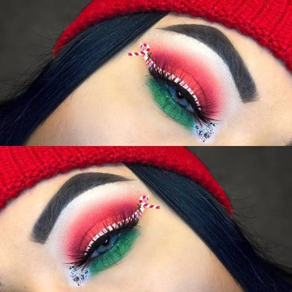 makeup ideas christmas 2021