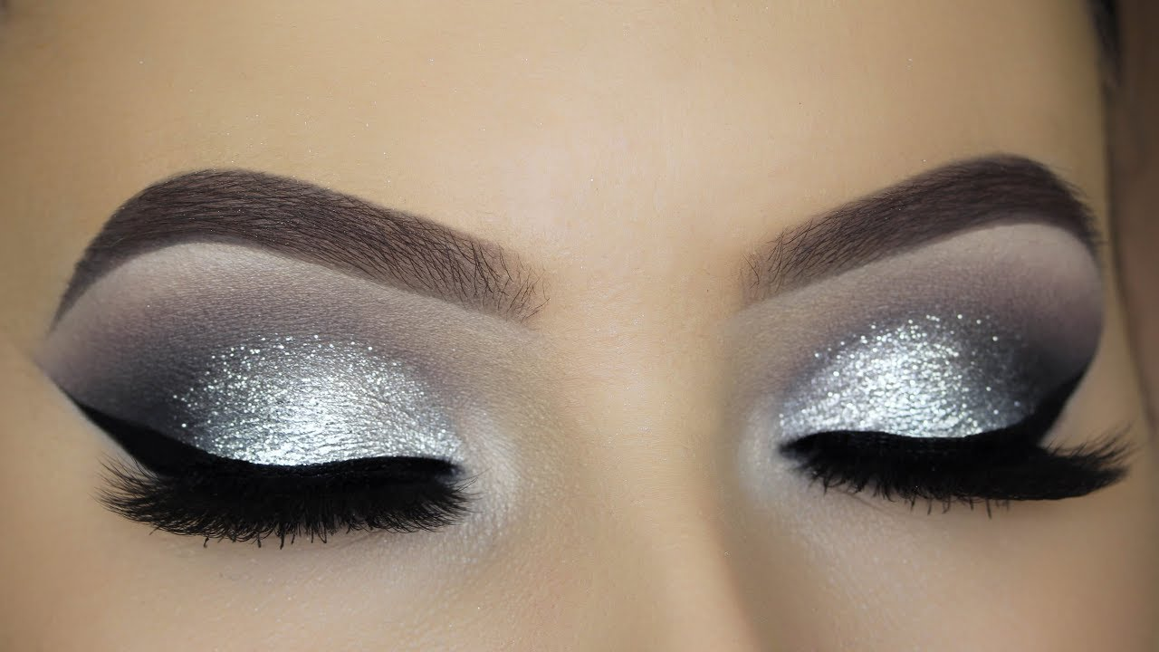 silver eyeshadow light makeup ideas