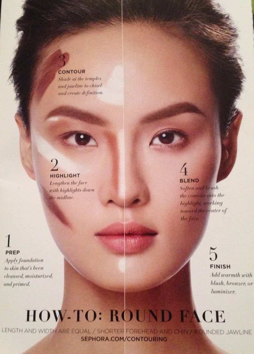 makeup ideas for round faces