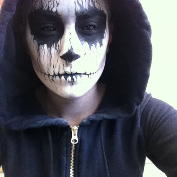 easy scary halloween makeup for guys