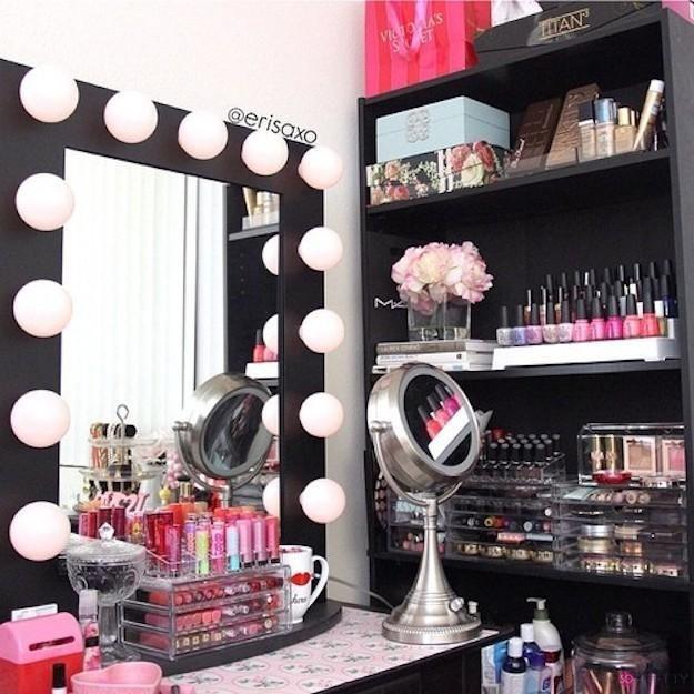 Makeup trends : Top makeup vanity organization ideas diy