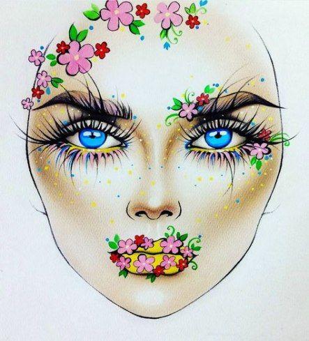 Makeup inspiration : Best makeup ideas face charts