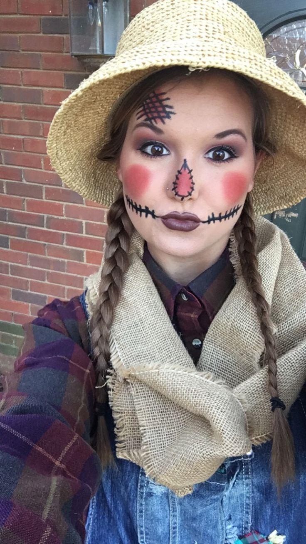 scarecrow makeup ideas for halloween