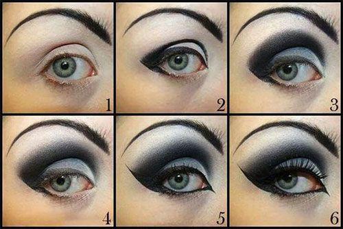 simple goth makeup ideas