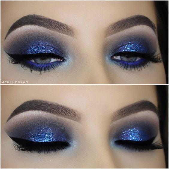 Makeup trends : Top royal blue dress makeup ideas