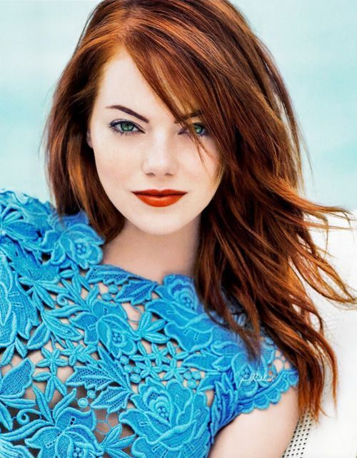 Trends : 25 Best makeup ideas for blue eyes and red hair