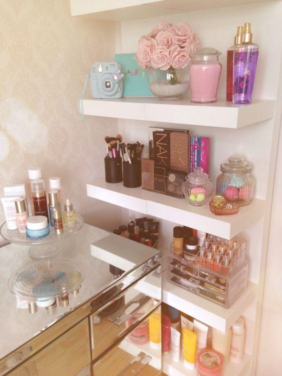 shelf ideas for makeup