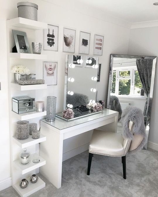 glam makeup room ideas