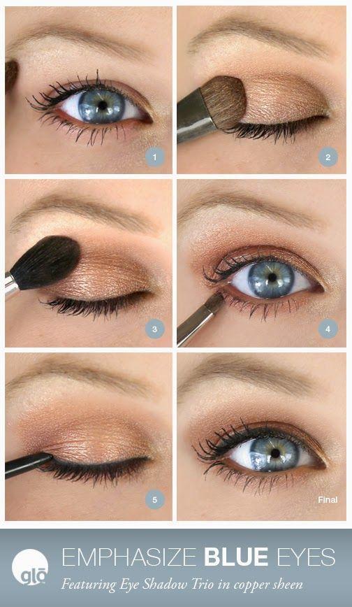 makeup tips for blue eyes natural
