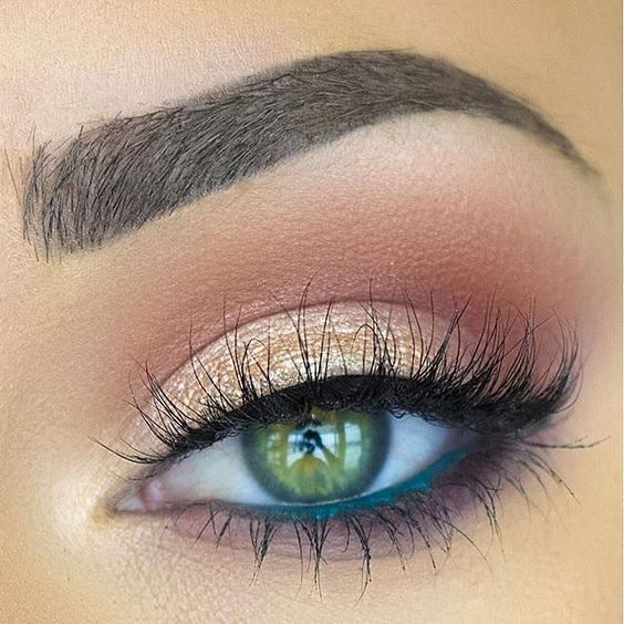 natural makeup ideas for green eyes