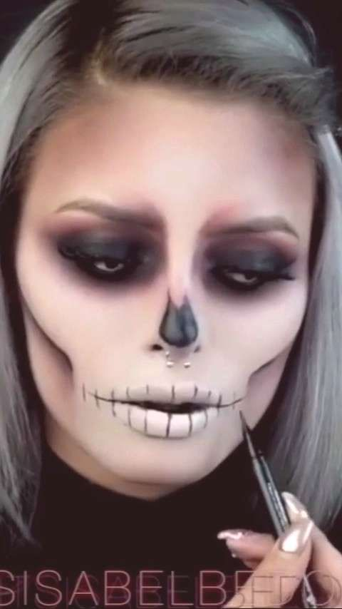 scary makeup tutorial for halloween