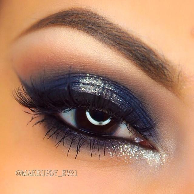 Makeup trends : Top navy blue dress makeup ideas